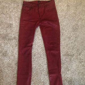 Red Citizens of Humanity leather like jeans
